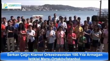 Serkan Çağrı ve Klarnet Orkestrası'ndan Ortaköy'de İstiklal Marşı