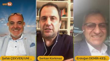 Serkan Korkmaz UNİ TV'nin canlı yayınında Keşan Belediye Başkanı Mustafa Helvacıoğlu ile buluştu