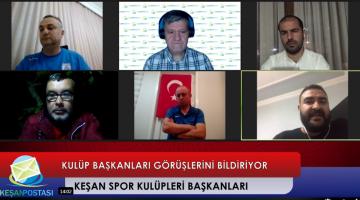 Keşan'daki spor kulübü başkanları Keşan Postası'nda Erdoğan Demir'in canlı yayın konuğu oldu