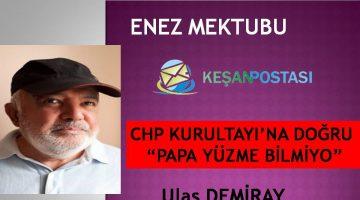 """CHP KURULTAYI'NA DOĞRU …""""PAPA YÜZME BİLMİYO"""