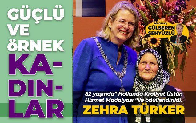 """82 yaşında"""" Hollanda Kraliyet Üstün Hizmet Madalyası """"ile ödüllendirildi."""
