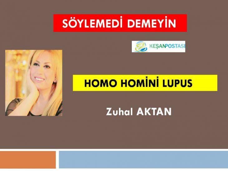 HOMO HOMİNİ LUPUS